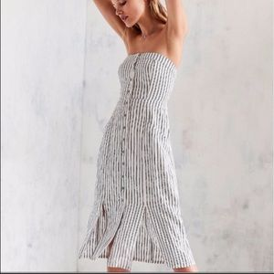 NWOT Urban Outfitters Linen BDGMidi Dress-Sold Out